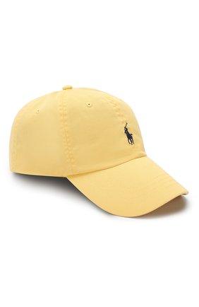 Мужской хлопковая бейсболка POLO RALPH LAUREN желтого цвета, арт. 710667709 | Фото 1