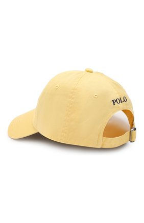 Мужской хлопковая бейсболка POLO RALPH LAUREN желтого цвета, арт. 710667709 | Фото 2