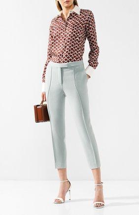 Женские шерстяные брюки BOTTEGA VENETA светло-зеленого цвета, арт. 546071/VAI30 | Фото 2