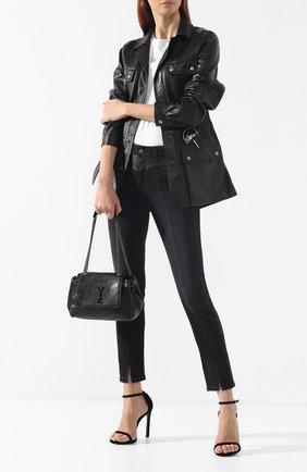 Сумка Nolita small Saint Laurent черная цвета | Фото №2