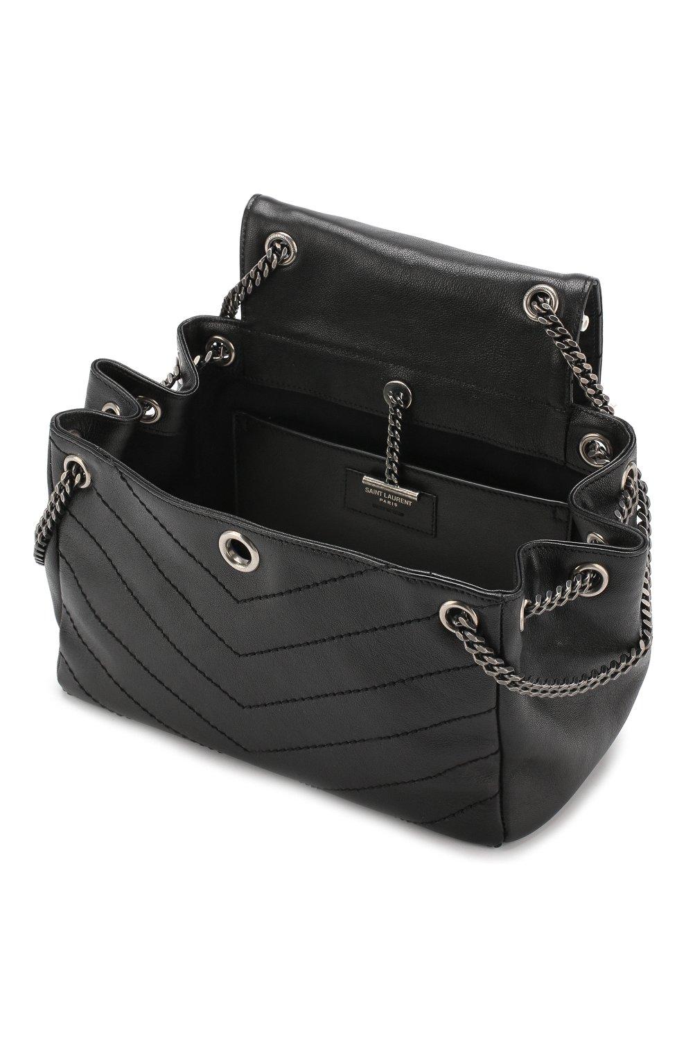 Сумка Nolita small Saint Laurent черная цвета | Фото №4
