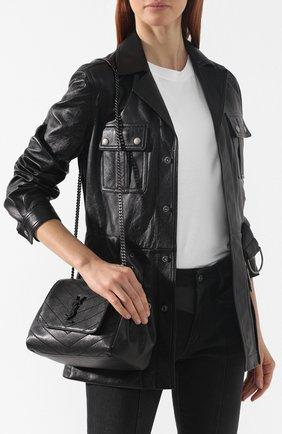 Сумка Nolita small Saint Laurent черная цвета | Фото №5