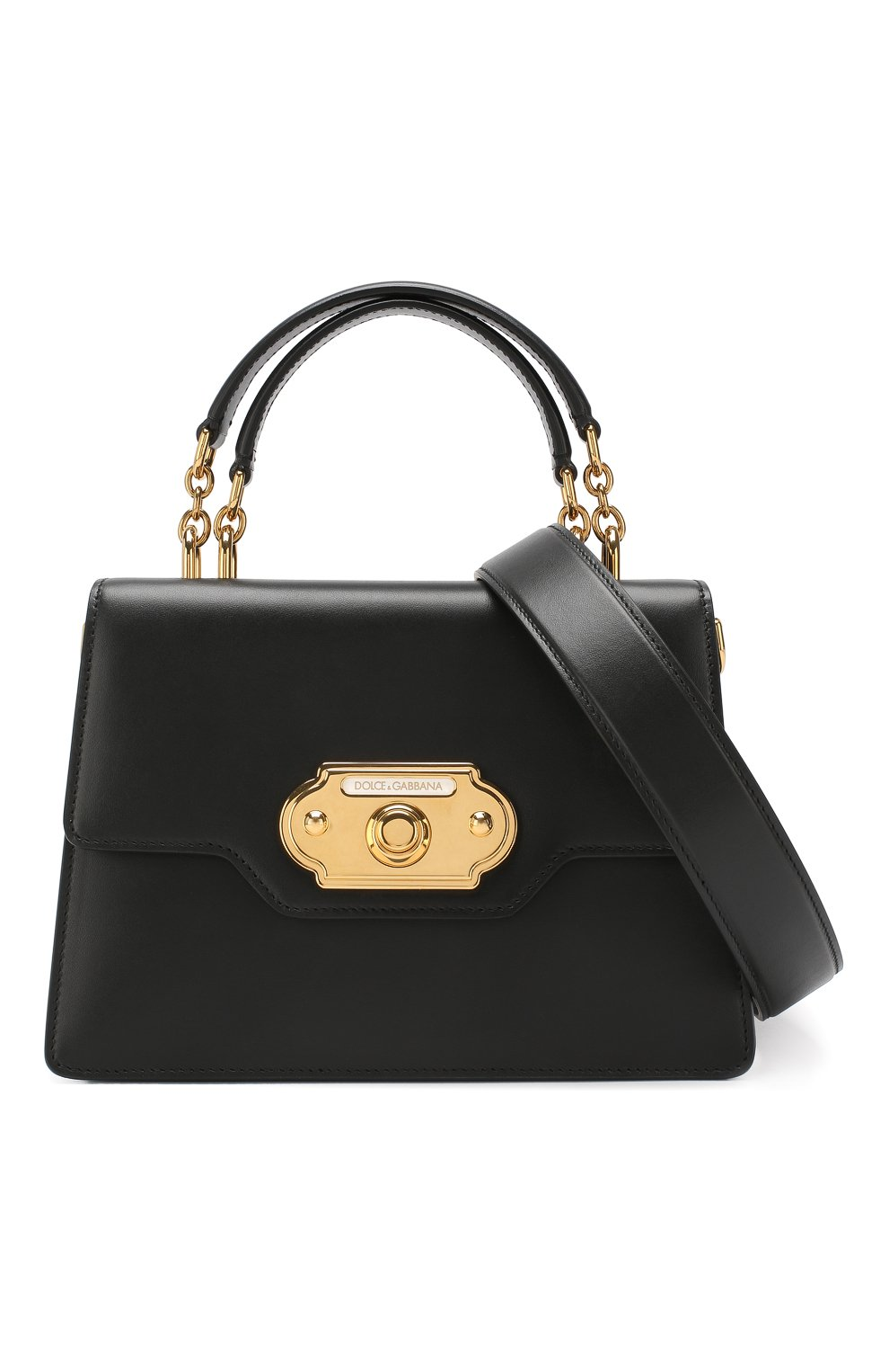bafdd38e8f0a Женская сумка welcome DOLCE & GABBANA черная цвета — купить за ...