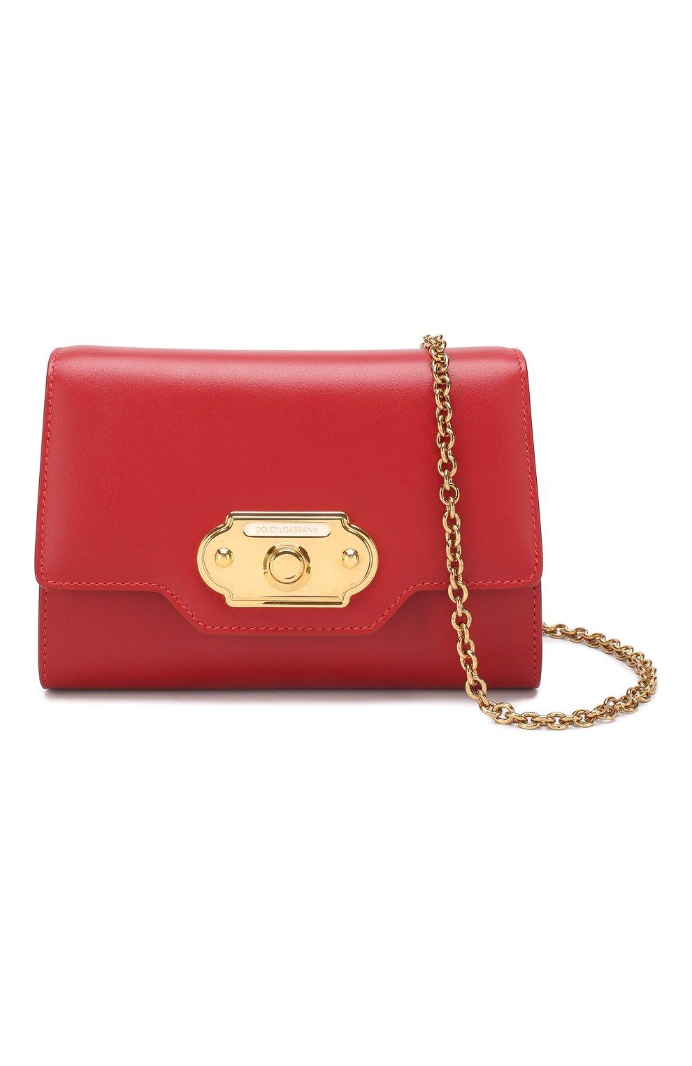 Сумка Welcome Dolce & Gabbana красная цвета   Фото №5