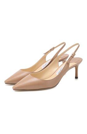Женская кожаные туфли erin 60 JIMMY CHOO бежевого цвета, арт. ERIN 60/KID | Фото 1