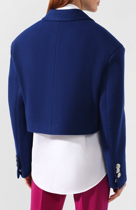 Шерстяной жакет CALVIN KLEIN 205W39NYC синий | Фото №4