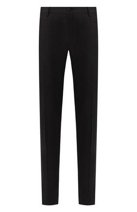 Мужской брюки из смеси шерсти и шелка DOLCE & GABBANA черного цвета, арт. GY59MT/FU3N7 | Фото 1
