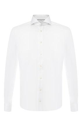 Мужская хлопковая сорочка с воротником акула ETON белого цвета, арт. 3000 73812   Фото 1