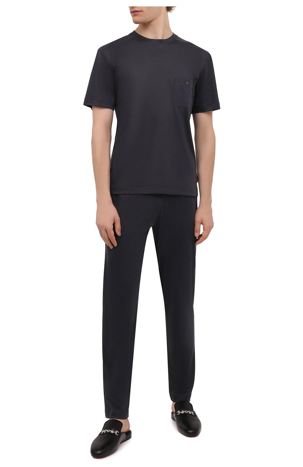 4177d47b415b Мужская темно-серая футболка из смеси хлопка и вискозы ZIMMERLI ...