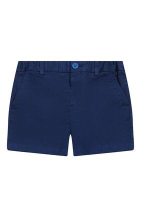 Детские хлопковые шорты BURBERRY синего цвета, арт. 8004891 | Фото 1