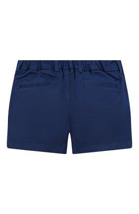 Детские хлопковые шорты BURBERRY синего цвета, арт. 8004891   Фото 2