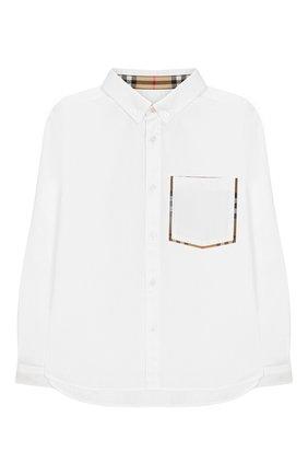 Хлопковая рубашка с воротником button down   Фото №1