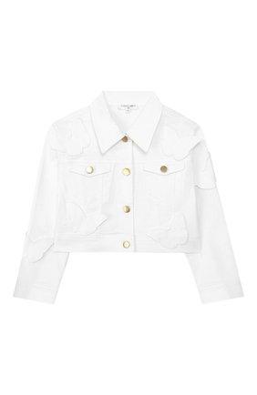 Укороченная куртка из денима   Фото №1