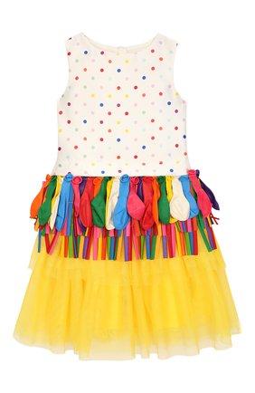 Детское платье с декором Charabia разноцветного цвета | Фото №1