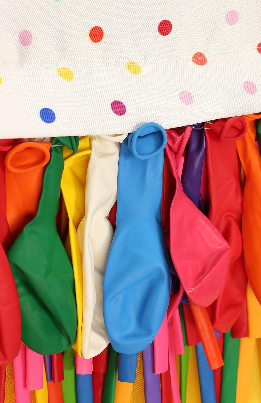 Детское платье с декором Charabia разноцветного цвета | Фото №3