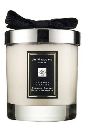 Мужская свеча ароматная lavender & lovage JO MALONE LONDON бесцветного цвета, арт. L3R4-01 | Фото 1