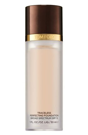 Женское крем-пудра traceless perfecting foundation spf 15, оттенок 0.5 porcelain TOM FORD бесцветного цвета, арт. T1WG-19 | Фото 1