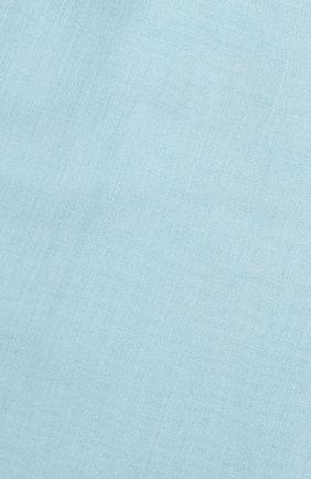 Кашемировый шарф Fil And Fil Loro Piana бирюзовый | Фото №2