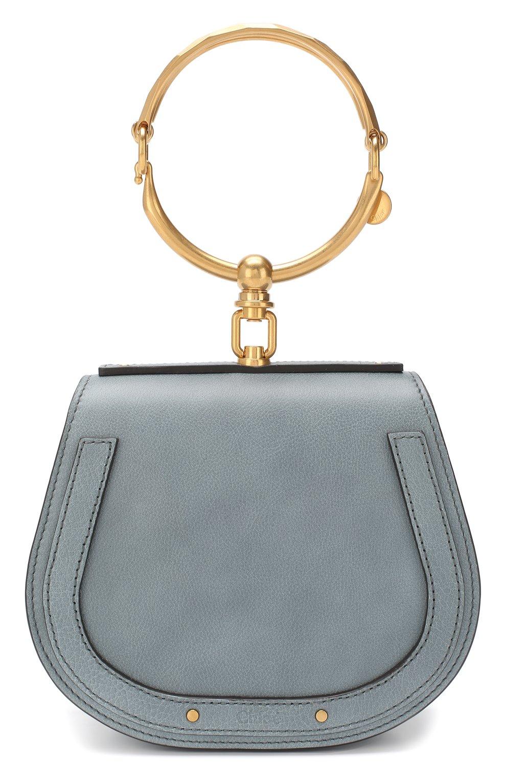 Женская сумка nile small CHLOÉ голубого цвета, арт. CHC17US301HEU | Фото 1