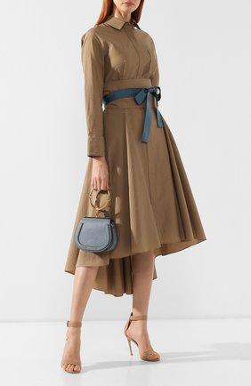 Женская сумка nile small CHLOÉ голубого цвета, арт. CHC17US301HEU | Фото 2