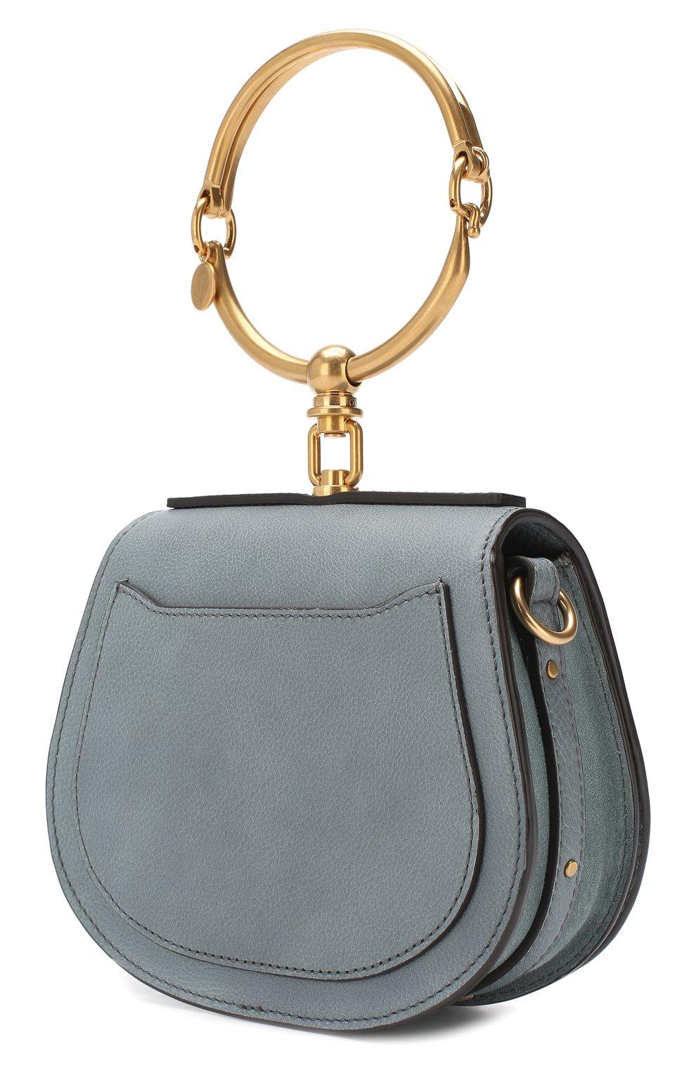 Женская сумка nile small CHLOÉ голубого цвета, арт. CHC17US301HEU | Фото 3