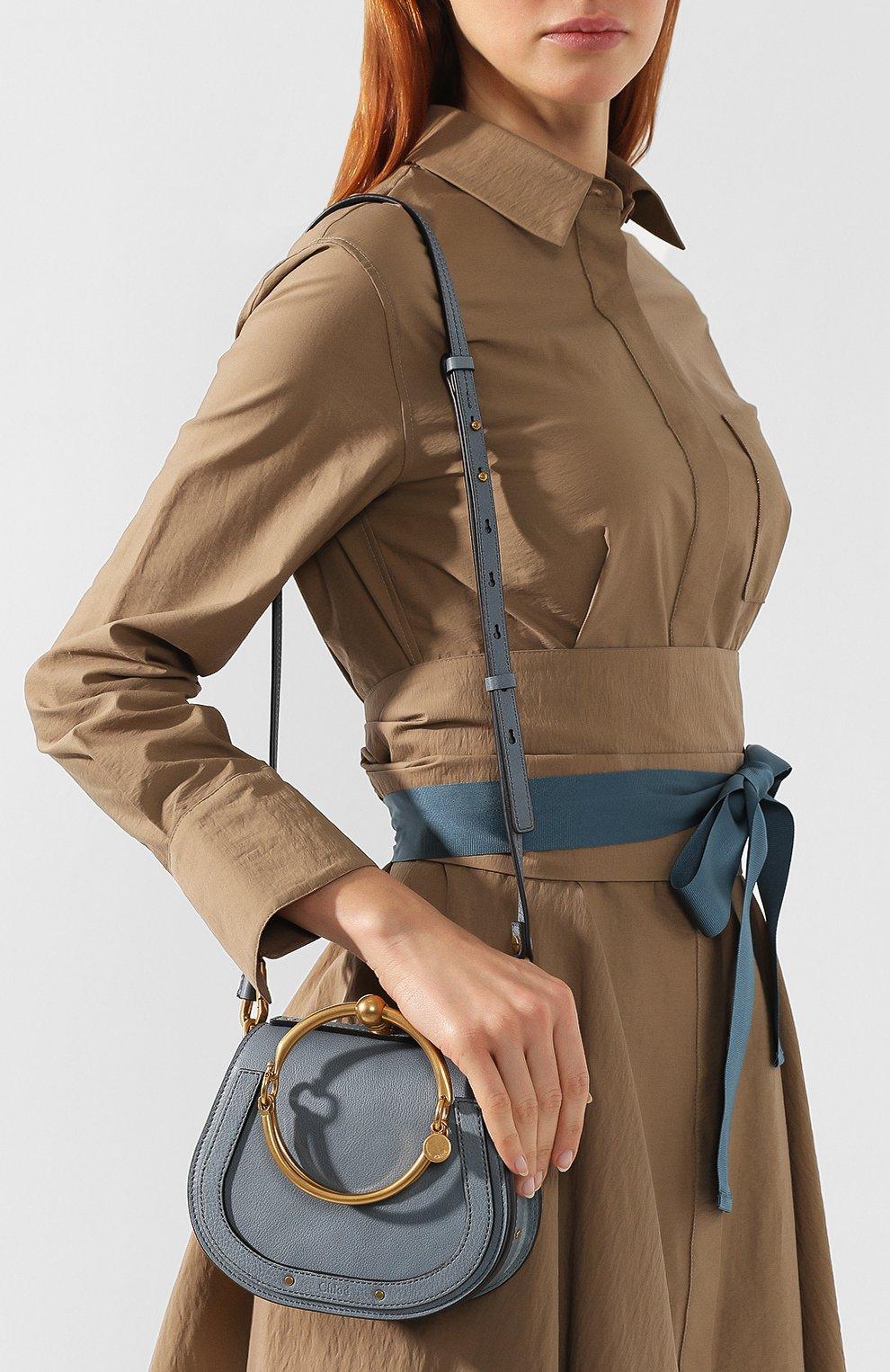 Женская сумка nile small CHLOÉ голубого цвета, арт. CHC17US301HEU | Фото 5