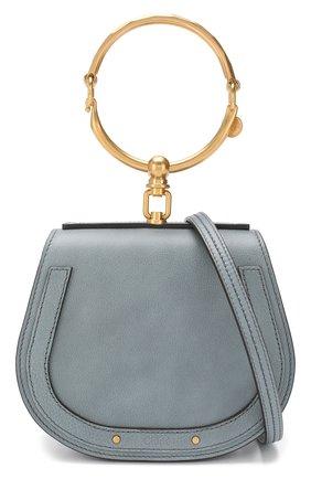 Женская сумка nile small CHLOÉ голубого цвета, арт. CHC17US301HEU | Фото 6