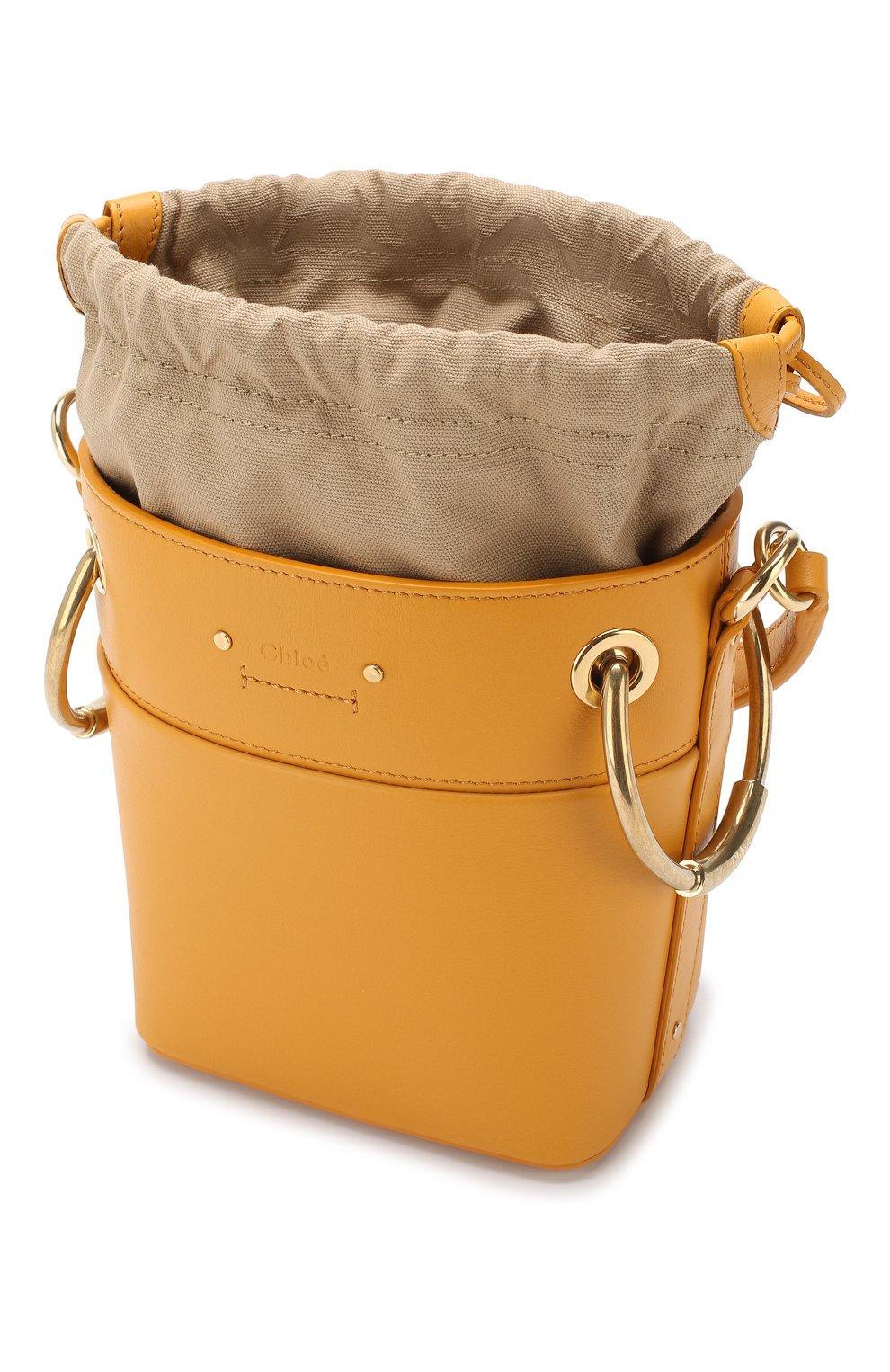 Сумка Roy Bucket mini Chloé желтая цвета | Фото №4