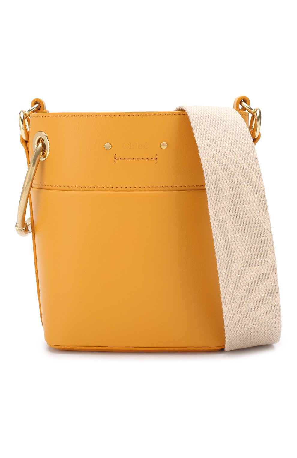 Сумка Roy Bucket mini Chloé желтая цвета | Фото №6
