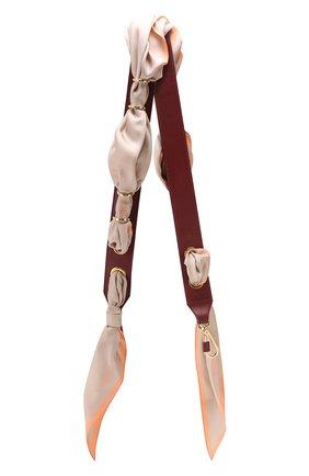 Женские кожаный ремень для сумки scarf strap CHLOÉ бордового цвета, арт. CHC18AD802A36 | Фото 1