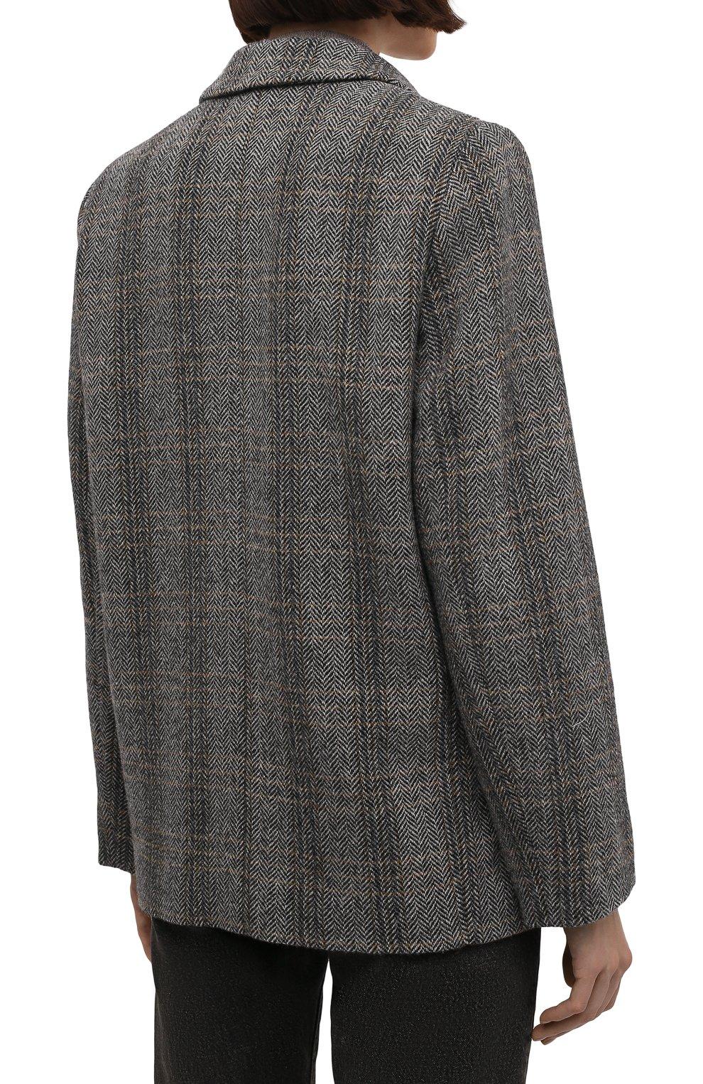 Женский шерстяной жакет на одной пуговице ISABEL MARANT ETOILE серого цвета, арт. VE0439-00M003E/CHARLY | Фото 4