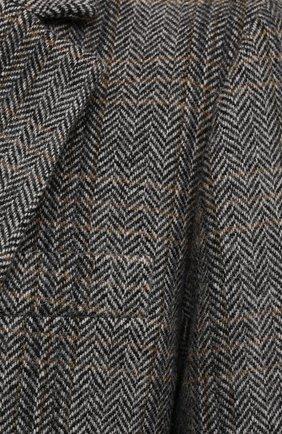 Женский шерстяной жакет на одной пуговице ISABEL MARANT ETOILE серого цвета, арт. VE0439-00M003E/CHARLY | Фото 5