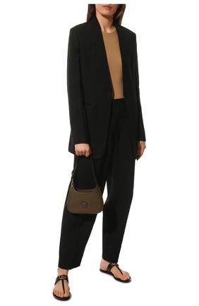 Женские кожаные шлепанцы marmont GUCCI черного цвета, арт. 497444/A3N00 | Фото 2