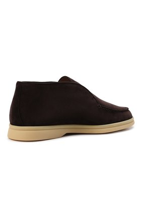 Женские замшевые ботинки open walk LORO PIANA темно-коричневого цвета, арт. FAE9959   Фото 5