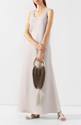 Женская сумка angelou small CULT GAIA коричневого цвета, арт. 21002ACH 0MB   Фото 2 (Сумки-технические: Сумки top-handle; Размер: small; Материал: Текстиль; Статус проверки: Проверена категория)