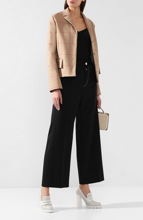 Женская кожаные туфли BOTTEGA VENETA белого цвета, арт. 548199/VT040 | Фото 2