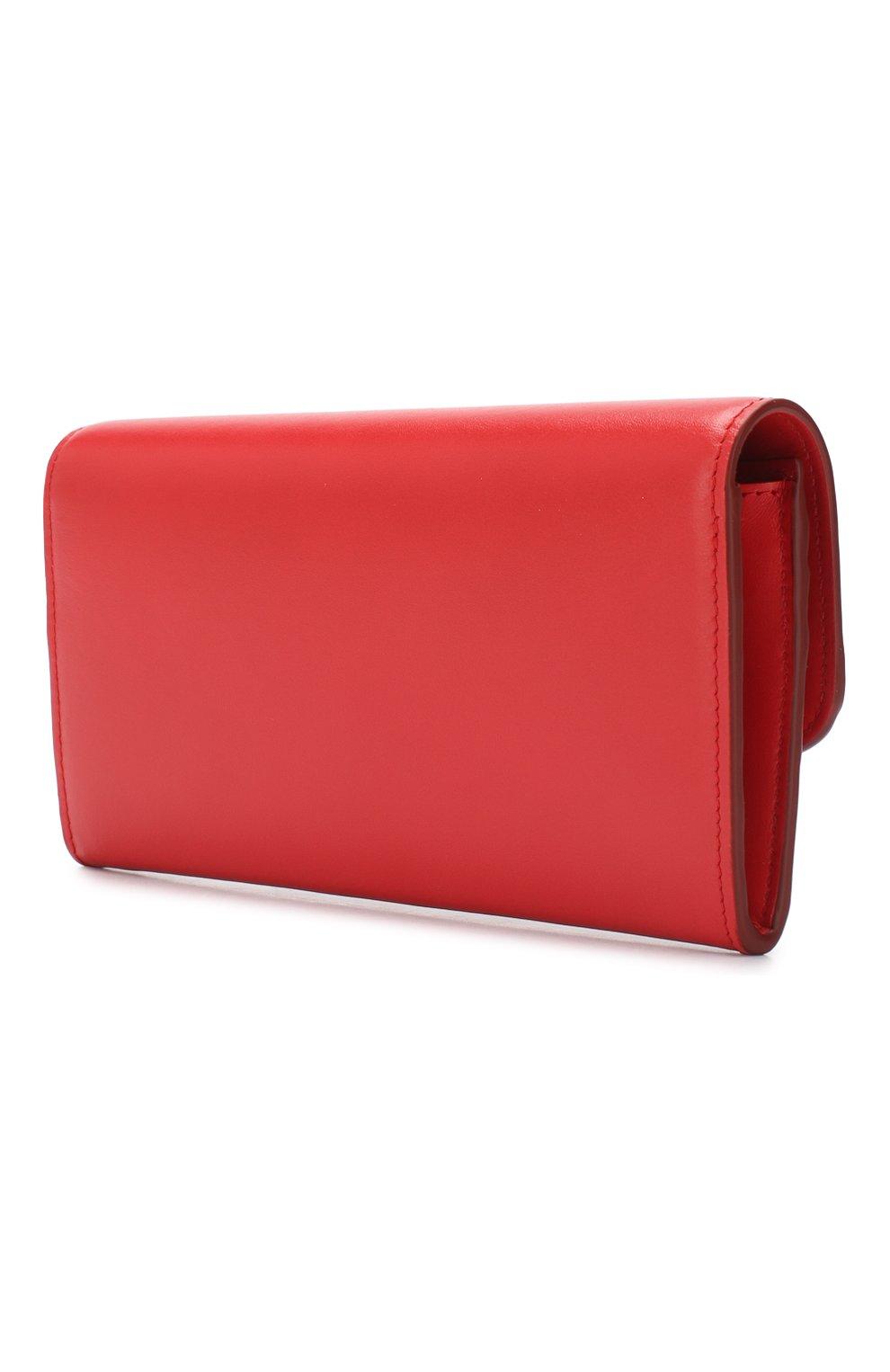 Кожаный кошелек Chloé красного цвета | Фото №2