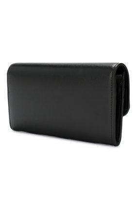 Женские кожаный кошелек CHLOÉ черного цвета, арт. CHC19SP055A37 | Фото 2