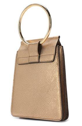 Сумка Faye small Bracelet Chloé золотая цвета | Фото №3