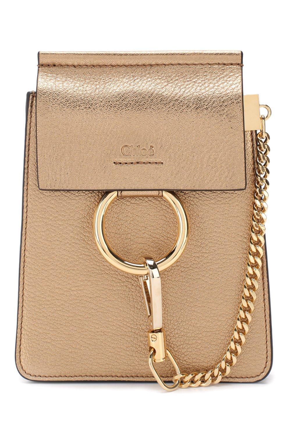 Сумка Faye small Bracelet Chloé золотая цвета | Фото №7