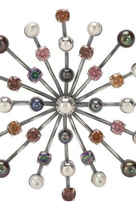 Серебряная брошь Bottega Veneta серебряная | Фото №3