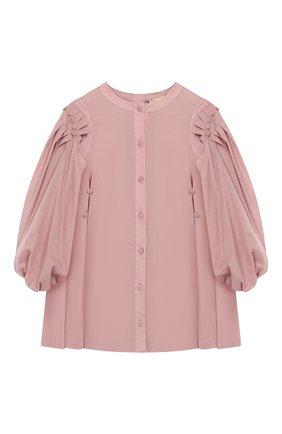 Платье-рубашка из хлопка со съемными рукавами   Фото №1