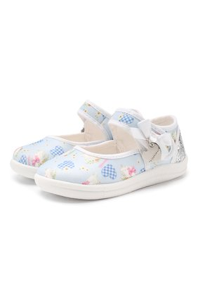 Текстильные туфли с застежкой велькро | Фото №1