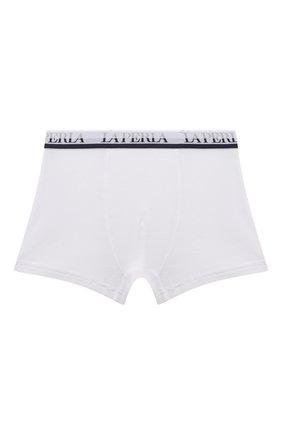 Детские боксеры из вискозы LA PERLA белого цвета, арт. 54388/2A-6A | Фото 1