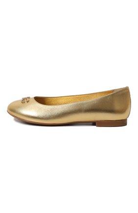 Детские кожаные балетки DOLCE & GABBANA золотого цвета, арт. D10510/A6C66/29-36 | Фото 2