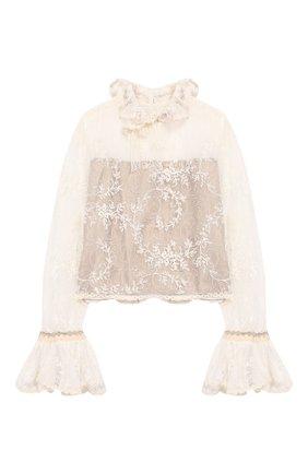 Кружевная блузка из хлопка | Фото №1