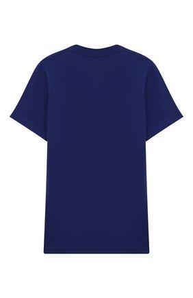 Детская хлопковая футболка DSQUARED2 синего цвета, арт. DQ039Y-D00RI | Фото 2