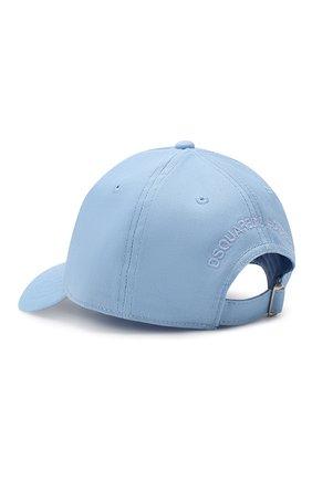 Детская хлопковая бейсболка DSQUARED2 голубого цвета, арт. DQ03HI-D00UE | Фото 2