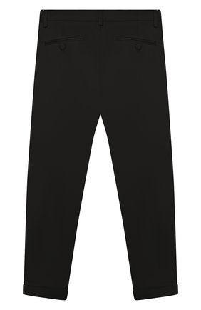 Детские хлопковые брюки DSQUARED2 черного цвета, арт. DQ03HU-D00UC   Фото 2