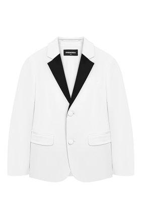 Хлопковый пиджак с платком | Фото №1